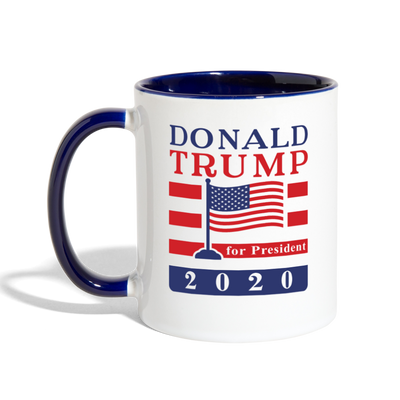 Donald Trump 2020 Ceramic Coffee Mug - white/cobalt blue