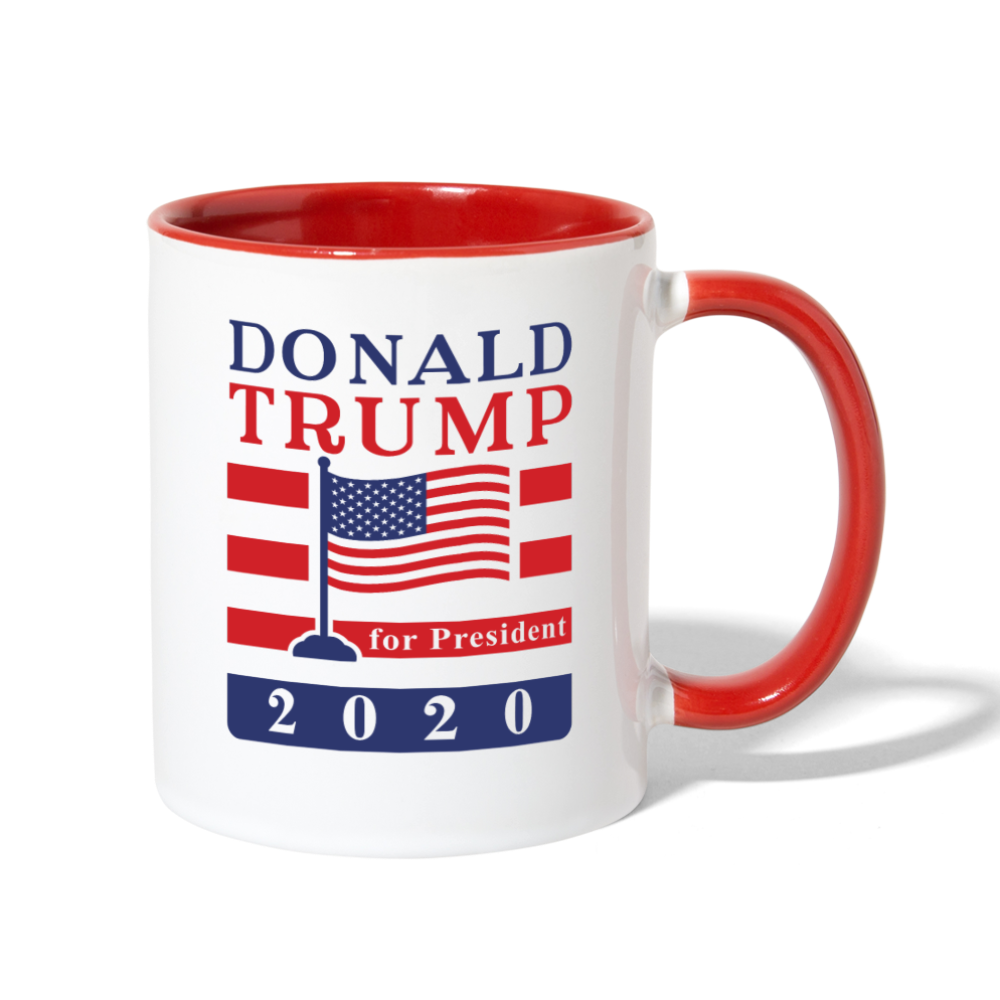 Donald Trump 2020 Ceramic Coffee Mug - white/red
