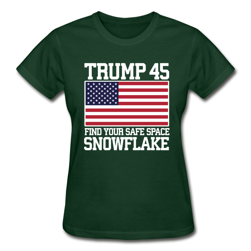 Trump 45 Find Your Safe Space Snowflake Women's T-Shirt - black