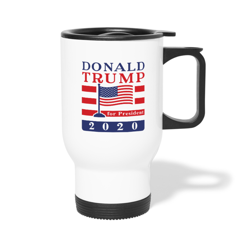 Donald Trump for President 2020 Travel Mug - white