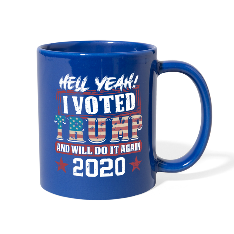 Hell Yeah I Voted Trump Mug - black