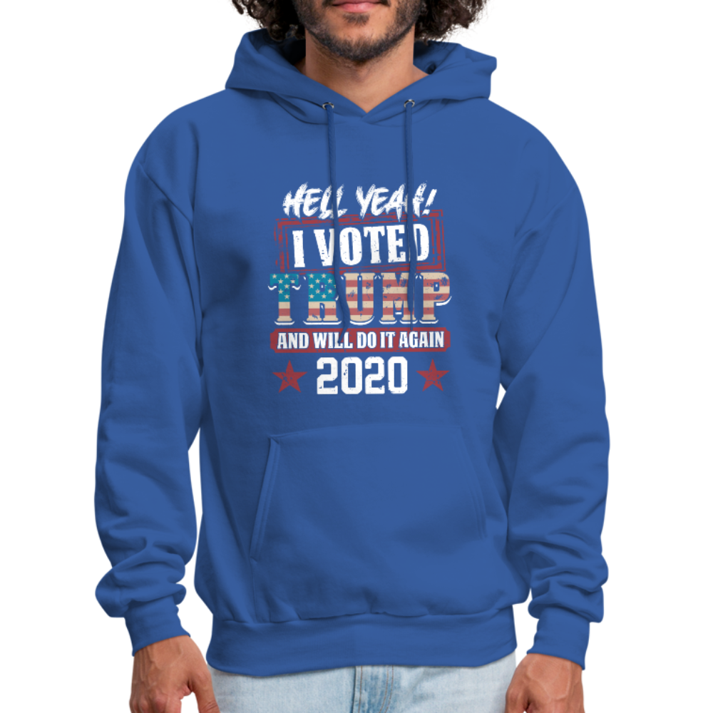 Hell Yeah I Voted Trump Hoodie - royal blue