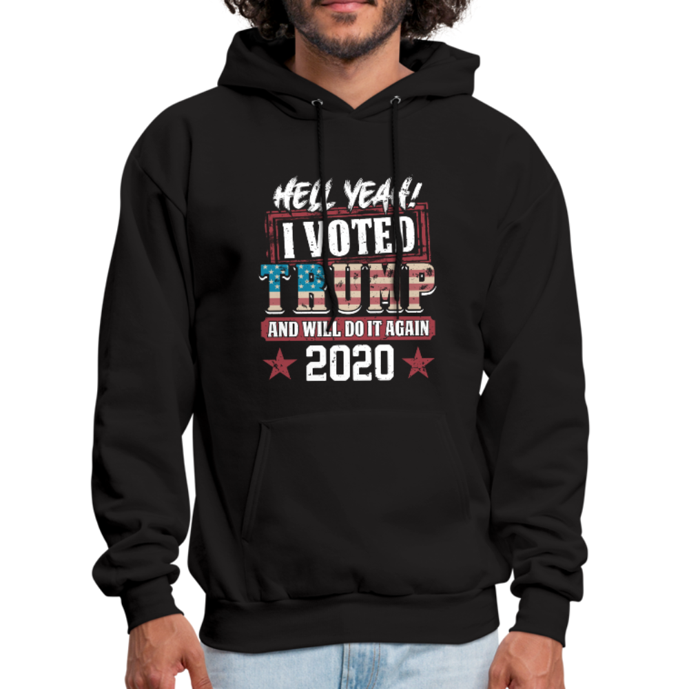 Hell Yeah I Voted Trump Hoodie - black