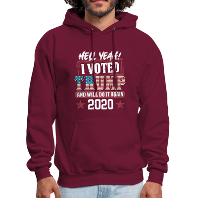 Hell Yeah I Voted Trump Hoodie - burgundy
