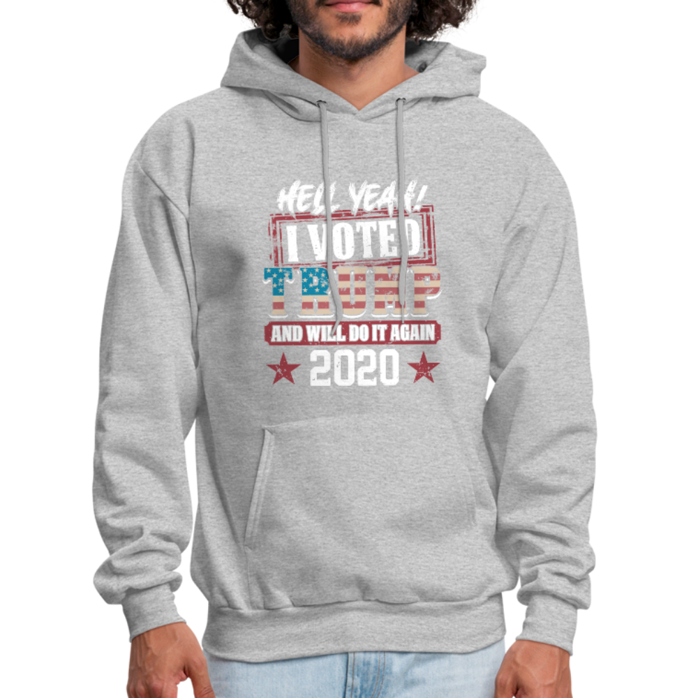 Hell Yeah I Voted Trump Hoodie - heather gray