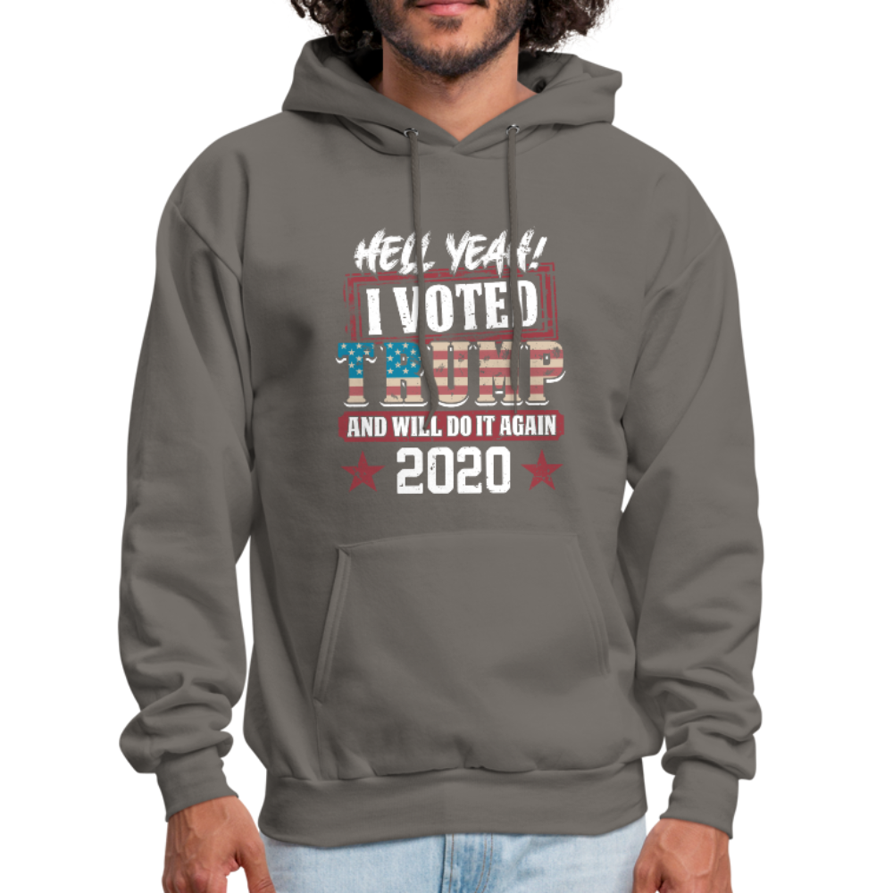 Hell Yeah I Voted Trump Hoodie - asphalt gray