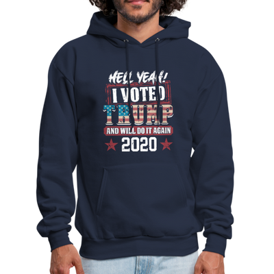 Hell Yeah I Voted Trump Hoodie - navy