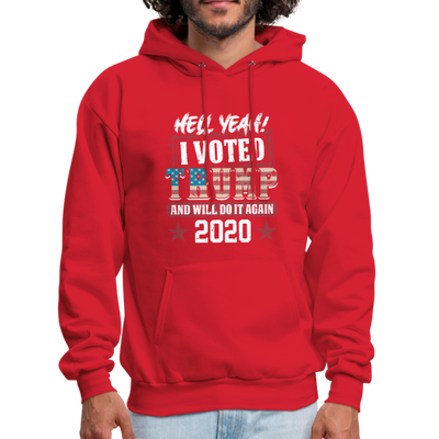Hell Yeah I Voted Trump Hoodie - red