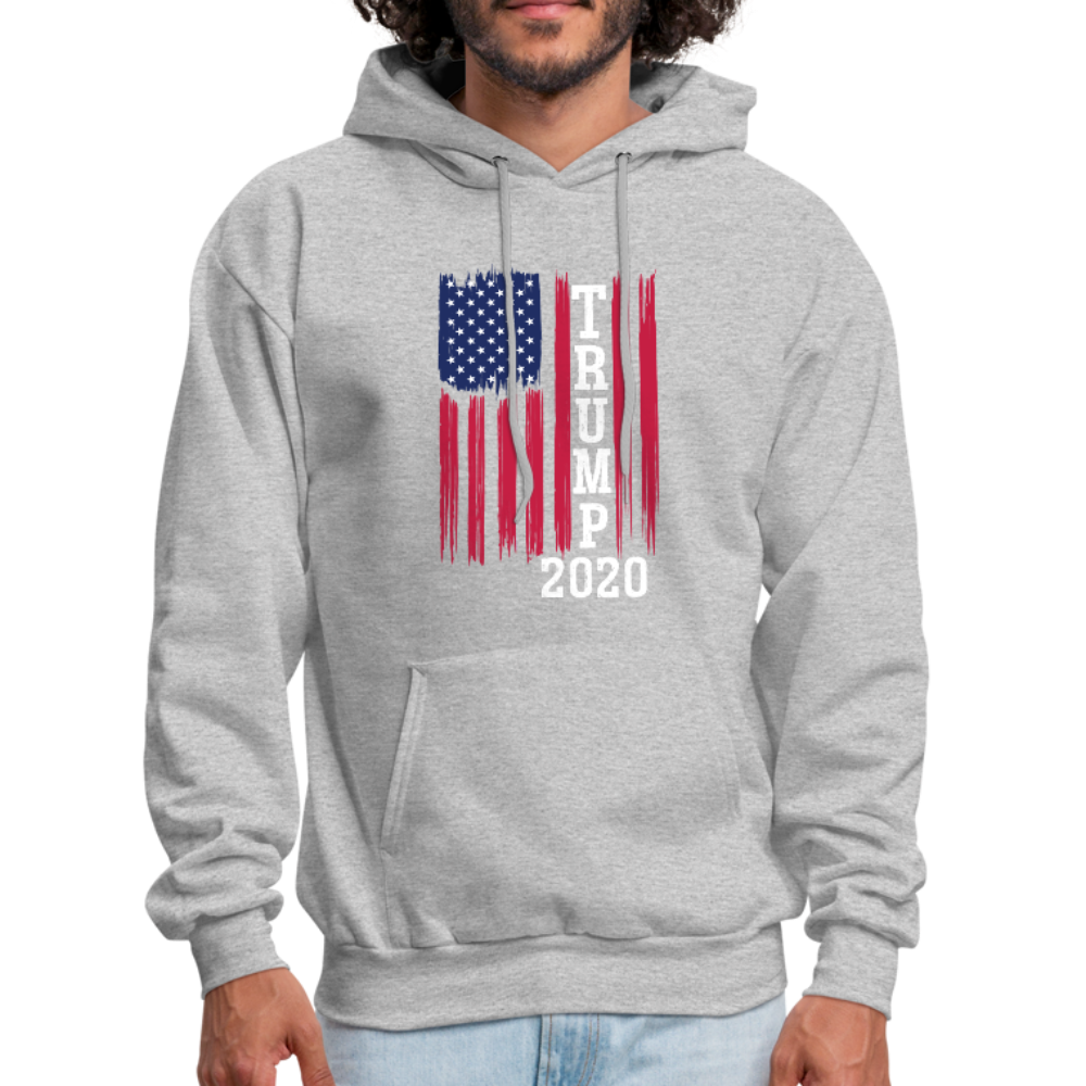 Trump 2020 Flag Hoodie - heather gray