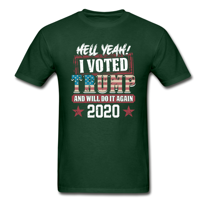Hell Yeah I Voted Trump Men's T-Shirt - black