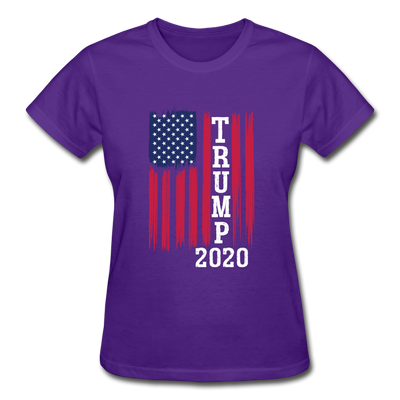 Trump 2020 Flag Women's T-Shirt - purple