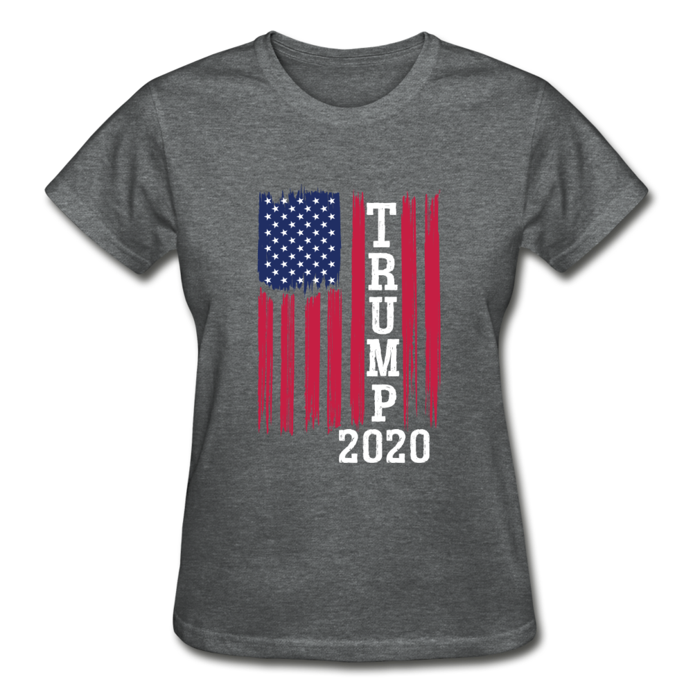 Trump 2020 Flag Women's T-Shirt - deep heather