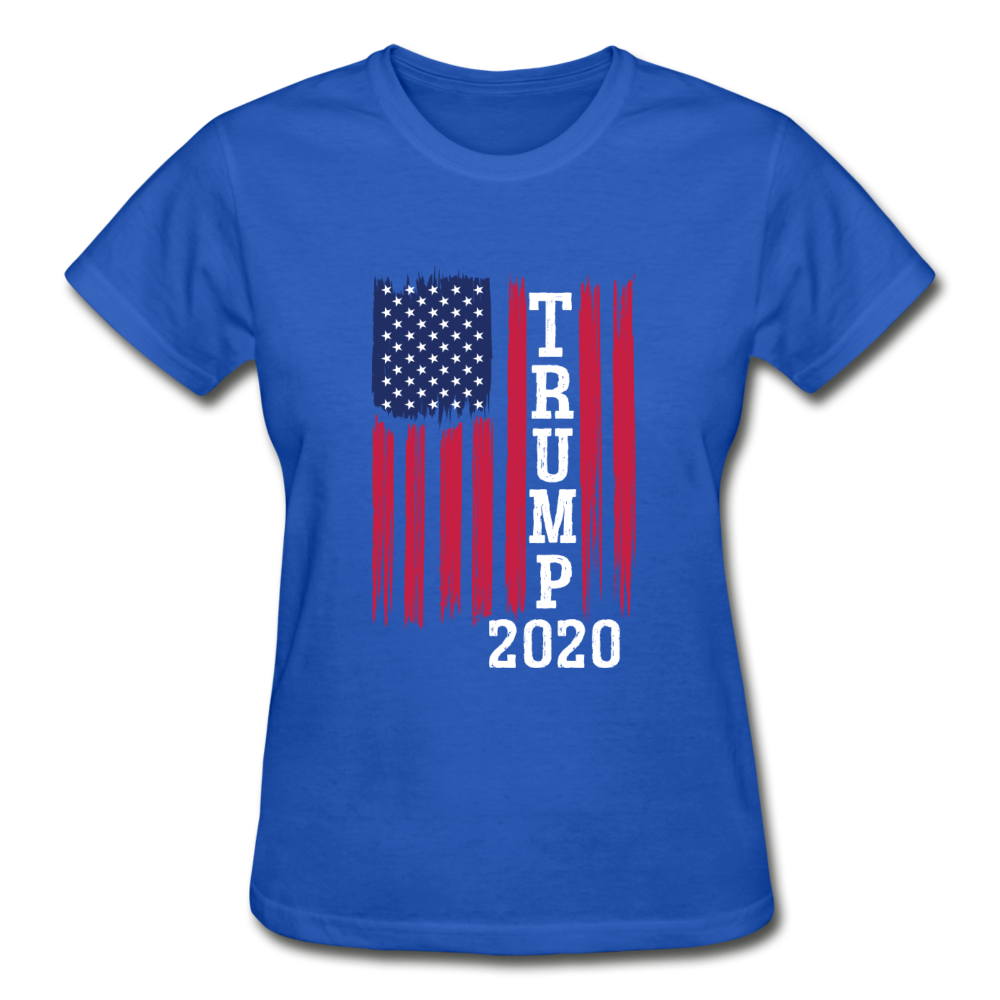 Trump 2020 Flag Women's T-Shirt - royal blue