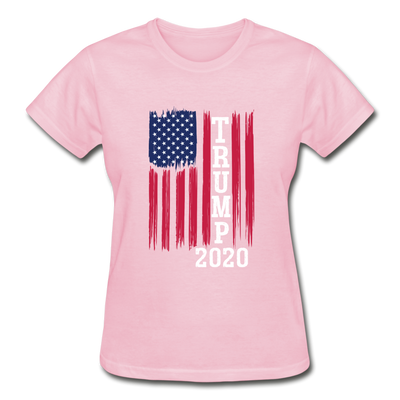 Trump 2020 Flag Women's T-Shirt - light pink