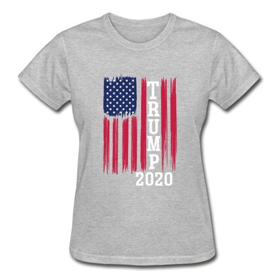 Trump 2020 Flag Women's T-Shirt - heather gray