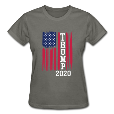 Trump 2020 Flag Women's T-Shirt - charcoal