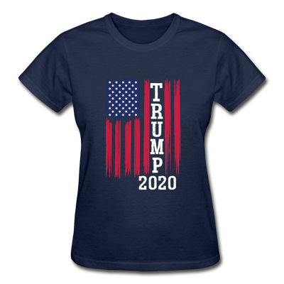 Trump 2020 Flag Women's T-Shirt - navy