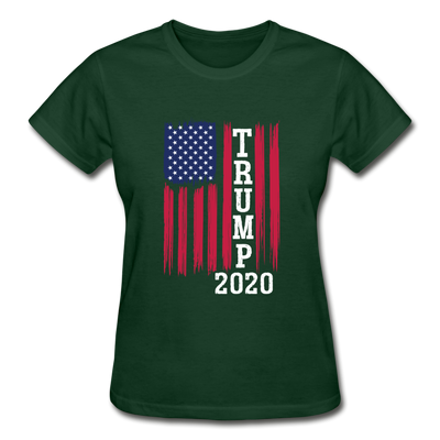 Trump 2020 Flag Women's T-Shirt - forest green