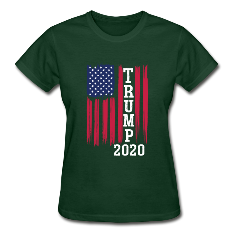 Trump 2020 Flag Women's T-Shirt - black
