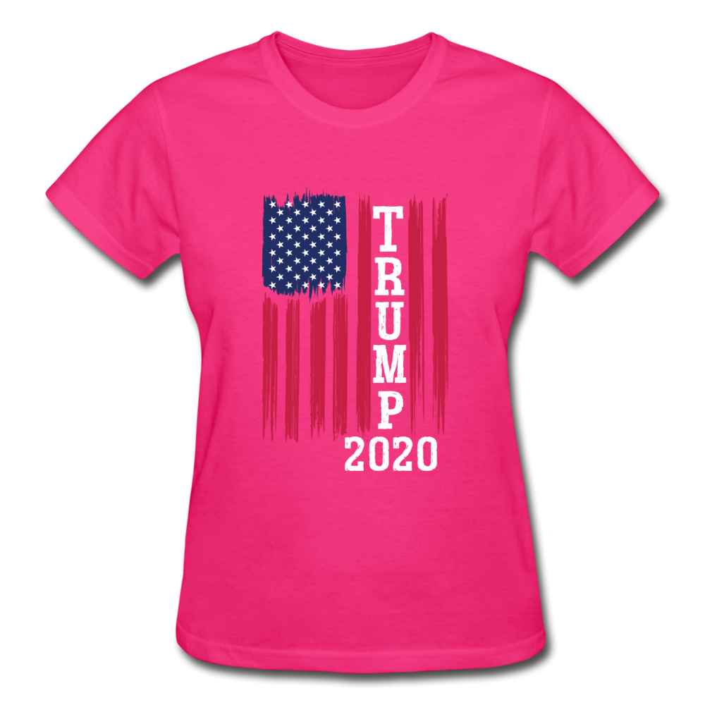Trump 2020 Flag Women's T-Shirt - fuchsia