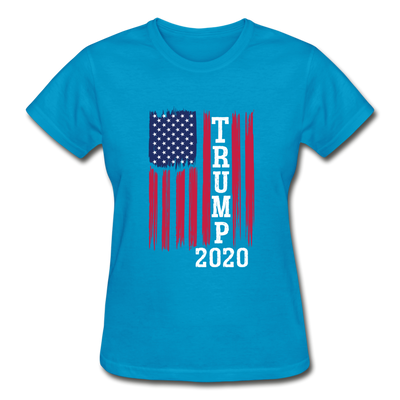 Trump 2020 Flag Women's T-Shirt - turquoise