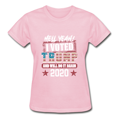 Hell Yeah I Voted Trump Women's T-Shirt - light pink