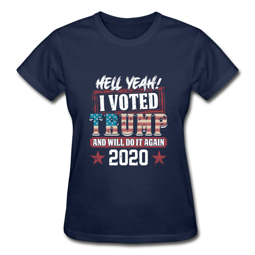 Hell Yeah I Voted Trump Women's T-Shirt - navy