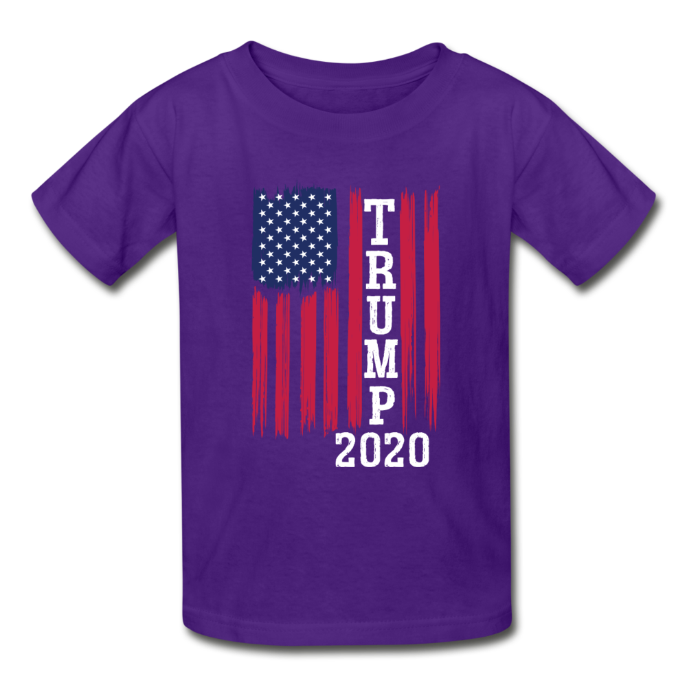 Trump 2020 Flag Youth T-Shirt - purple