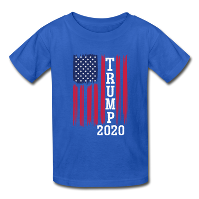 Trump 2020 Flag Youth T-Shirt - royal blue