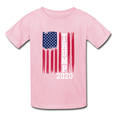 Trump 2020 Flag Youth T-Shirt - light pink