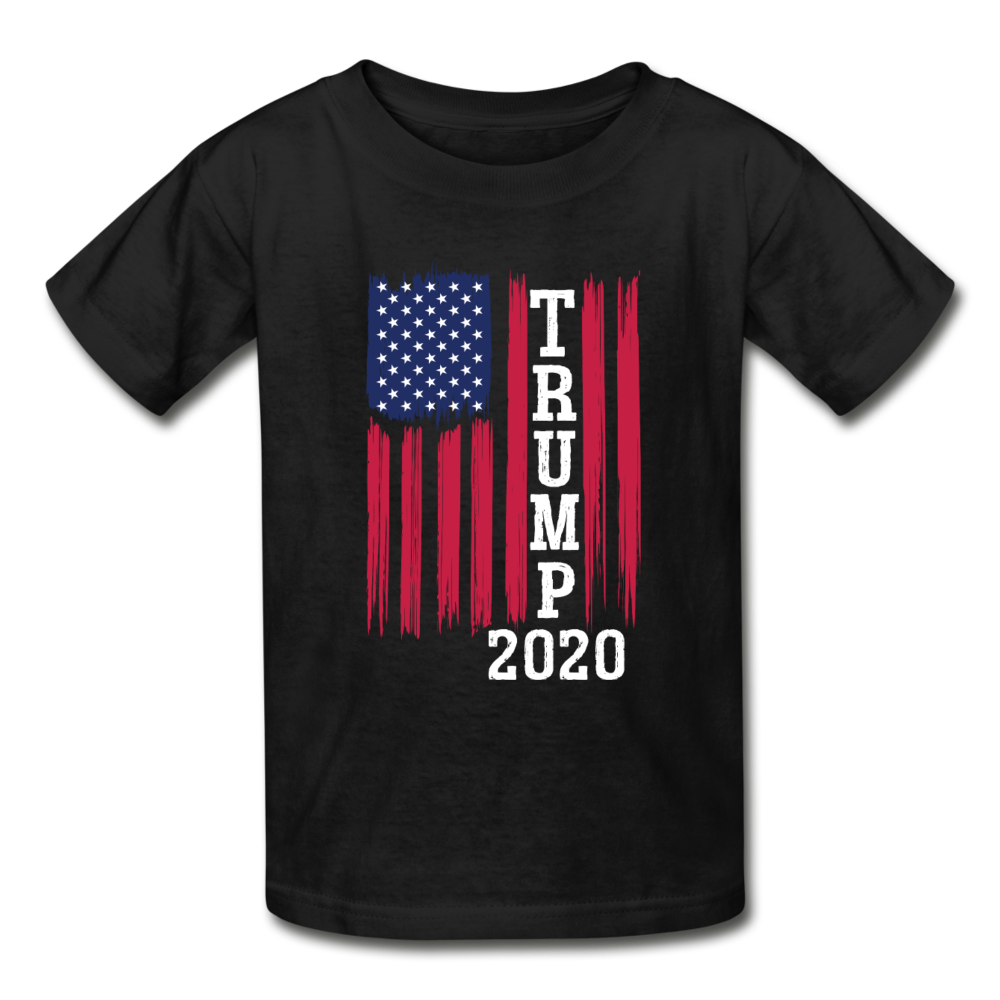 Trump 2020 Flag Youth T-Shirt - black