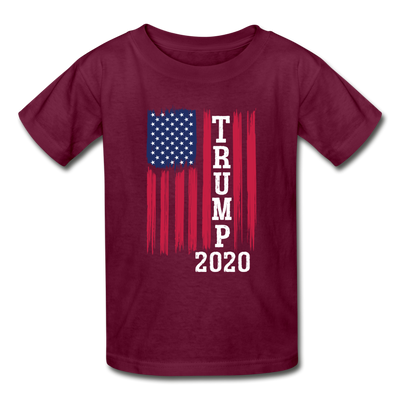 Trump 2020 Flag Youth T-Shirt - burgundy