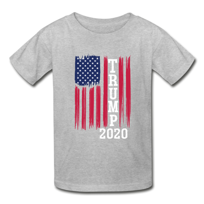 Trump 2020 Flag Youth T-Shirt - heather gray