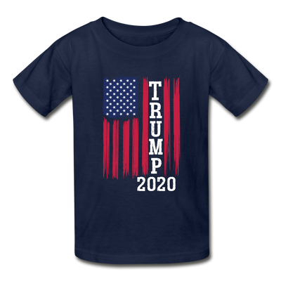 Trump 2020 Flag Youth T-Shirt - navy
