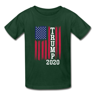 Trump 2020 Flag Youth T-Shirt - forest green