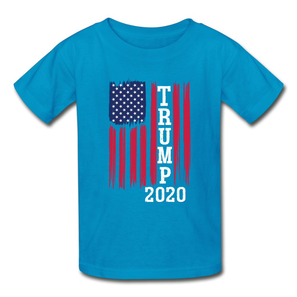 Trump 2020 Flag Youth T-Shirt - turquoise