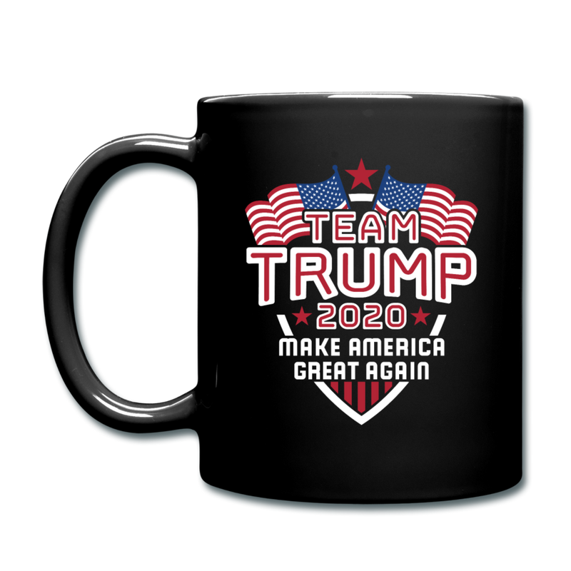 Team Trump 2020 Make America Great Again Ceramic Coffee Mug - black
