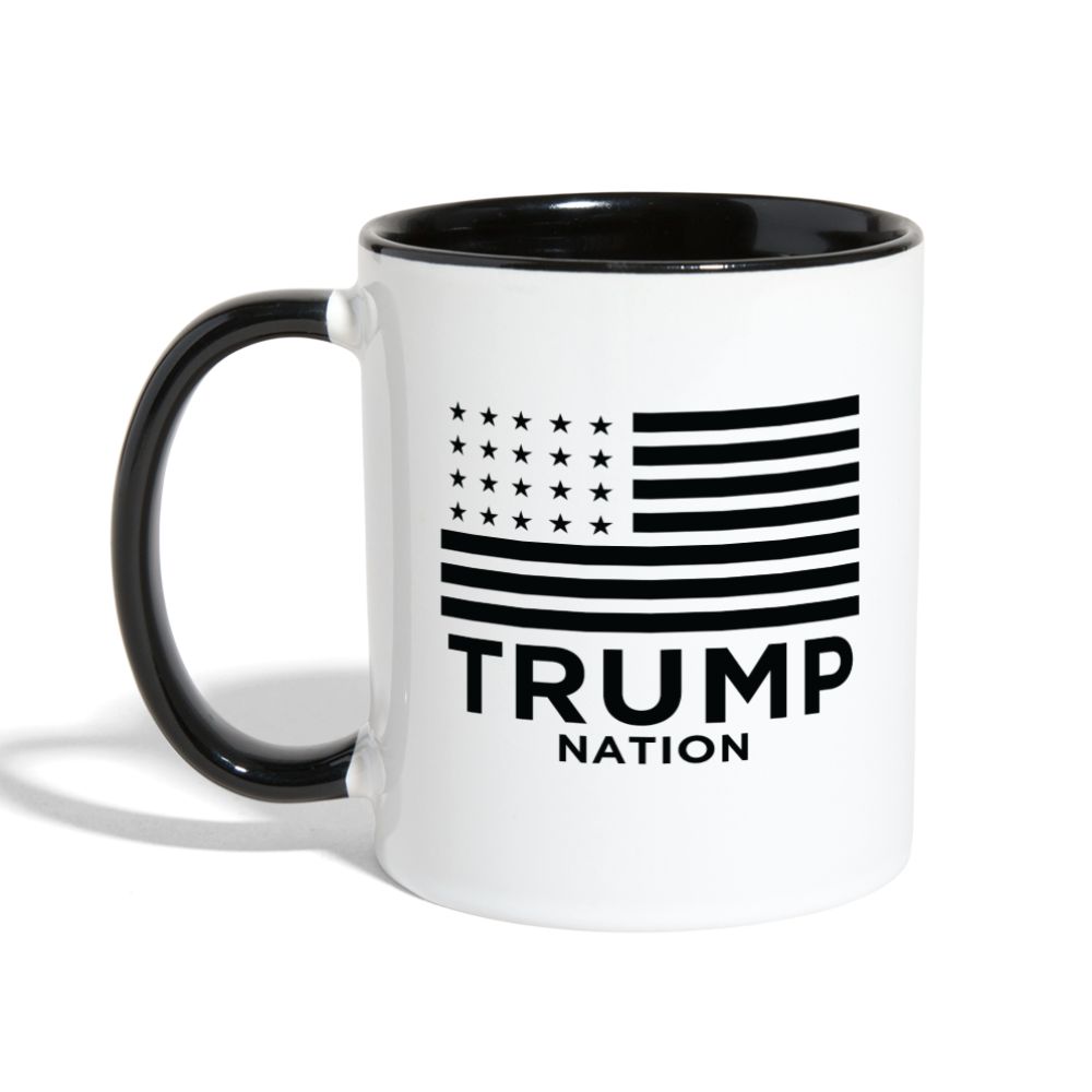 Trump Nation Ceramic Coffee Mug - white/black