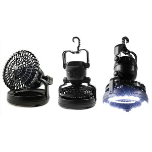 2-in-1 LED Camping Lantern with Fan