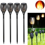LED Solar Flame Torch Light