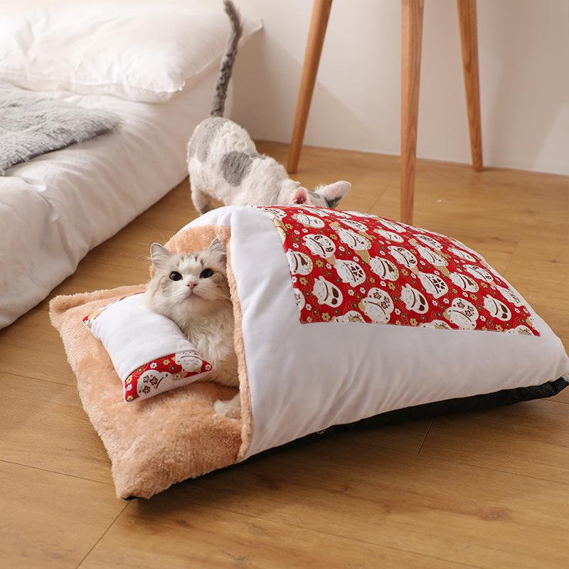 Sleeping Bag Cat Bed