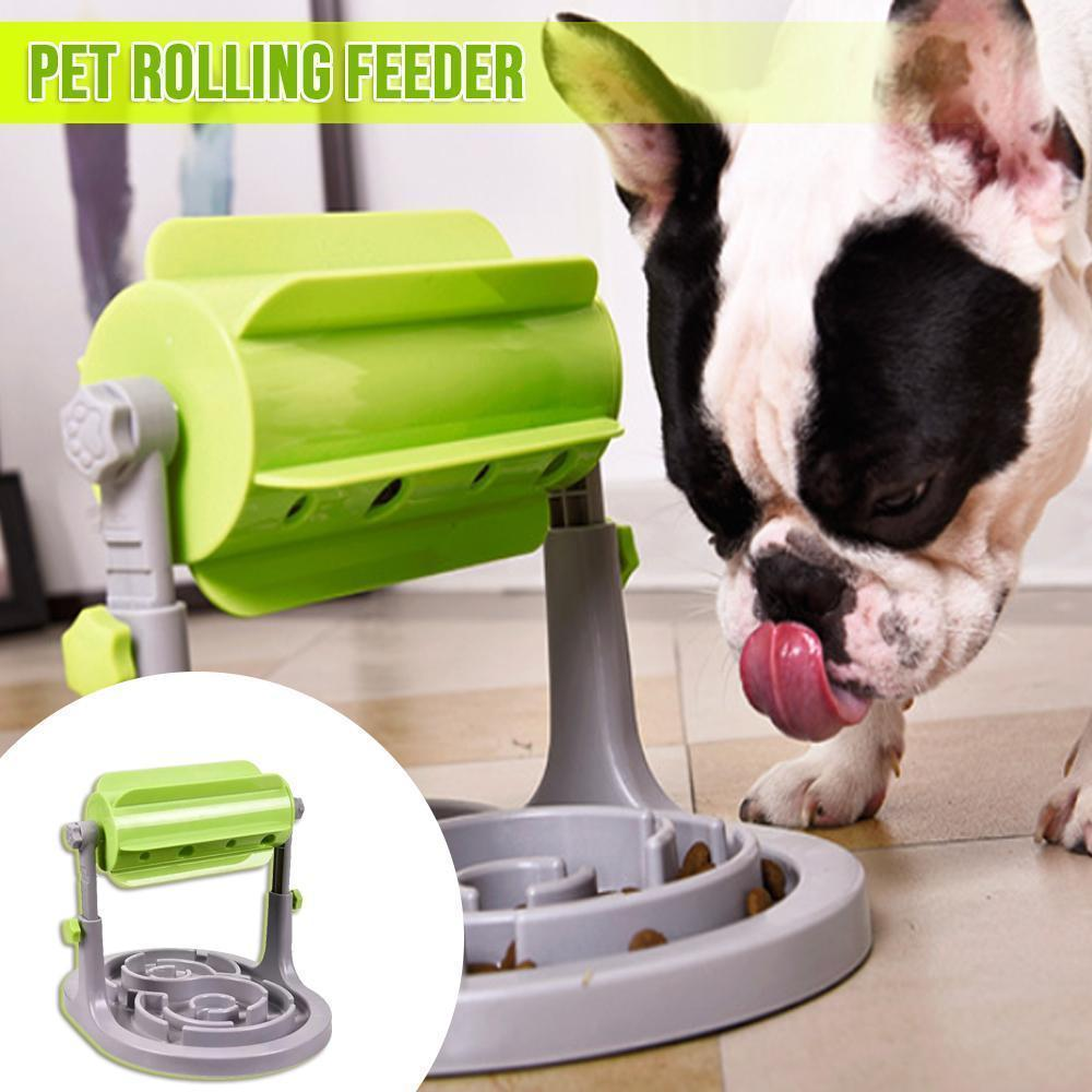 Pets Roller-Type Leaking Feeder Dog Food Dispenser