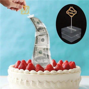 Surprise Money Cake Topper