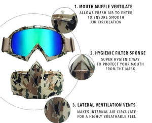 Winter Ski Goggles Motorcycle Outdoor Face Mask