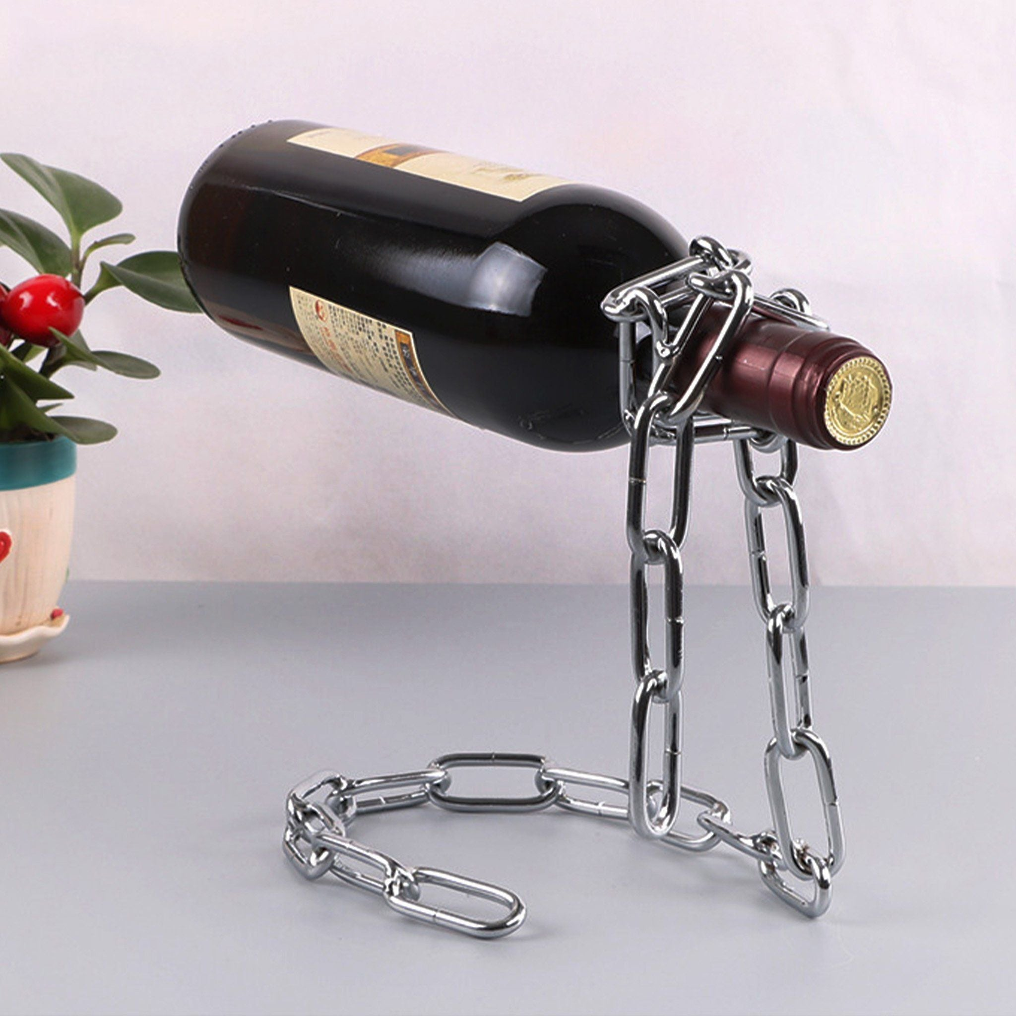 Magic Chain Wine Bottle Holder