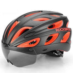 Bike Helmet with Magnetic Goggles Visor