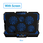 Gaming Laptop Cooler with Six Fan LED Screen