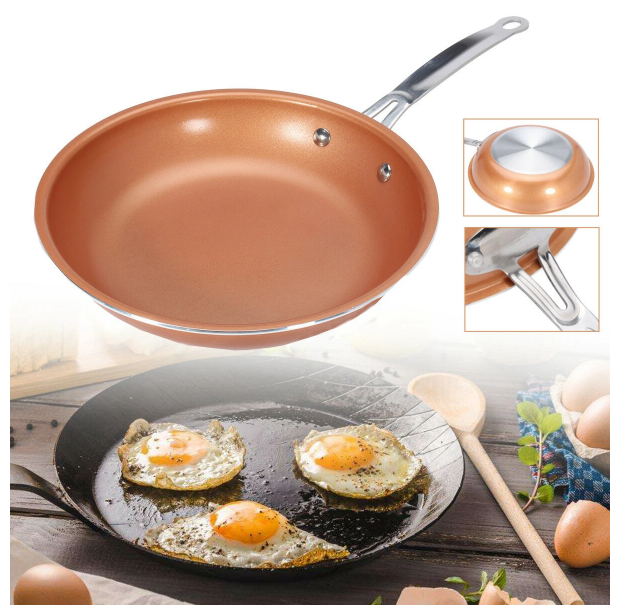 Non Stick Round Copper Frying Pan