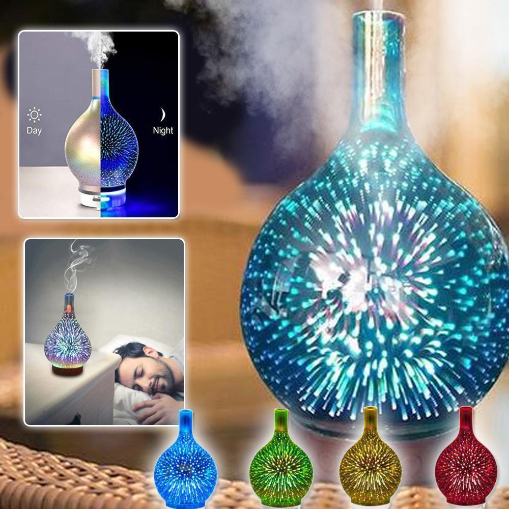 Firework Atmospheric Glass Diffuser Humidifier