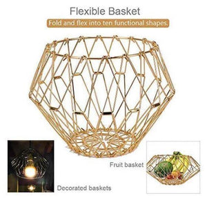 Collapsible Stainless Steel Wire Fruit Basket